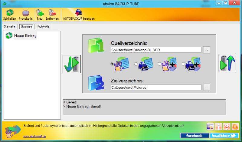 abylon BACKUP-TUBE screenshot