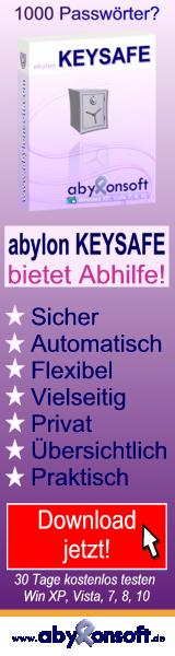 Software abylon KEYSAFE f�r 1000 und mehr Passw�rter