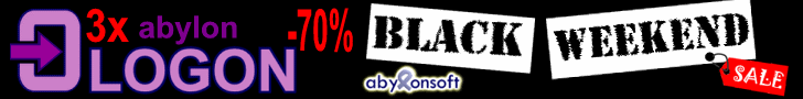 Black-Weekend: 70% Rabatt auf abylon LOGON