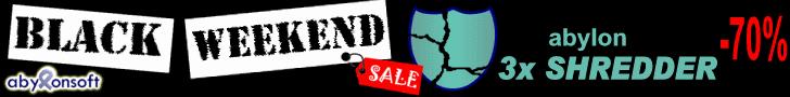 Black-Weekend: 70% Rabatt auf abylon SHREDDER