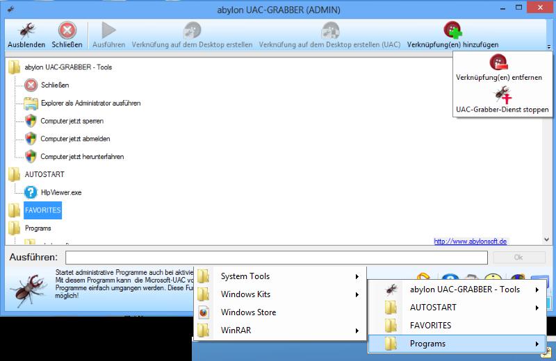abylon UAC-GRABBER screen shot